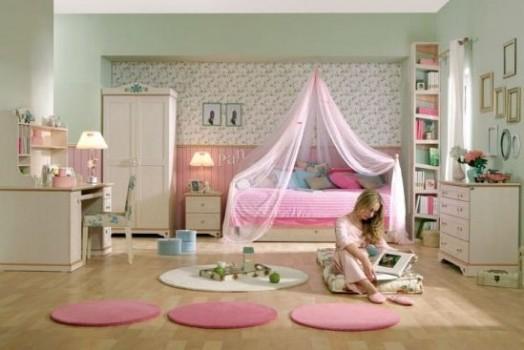 Coole Kleinkinderzimmer Ideen Mädchen rosa Teppich