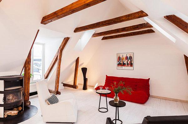 Dynamische Maisonette Stockholm-Gamla Stan Wohnzimmer-Design