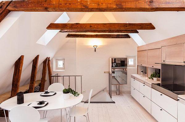 Dynamische Maisonette Stockholm-Gamla Stan moderne Küche