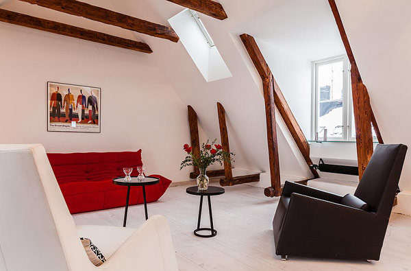 Dynamische Maisonette Stockholm Gamla-Stan moderne Sessel