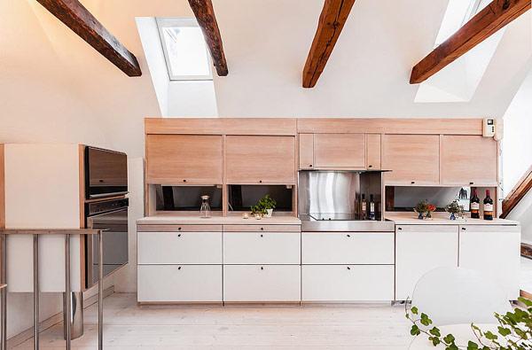 Dynamische Maisonette Stockholm-Gamla Stan skandinavische Küche