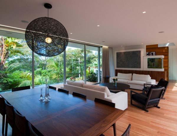 Ergreifende  Wohnzimmer Ausblick Esstisch Sofa