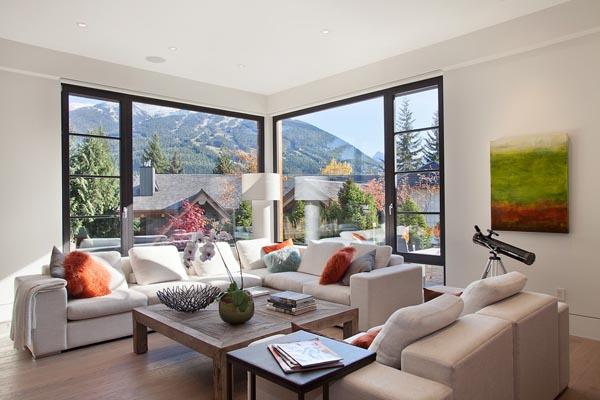 Ergreifende Wohnzimmer Ausblick Sofa Couch
