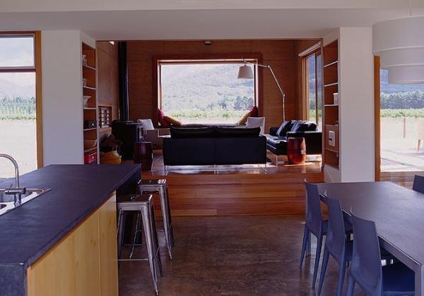 Fenstersitznischen inspirierte Ideen Wohnzimmer Sofa Esstisch