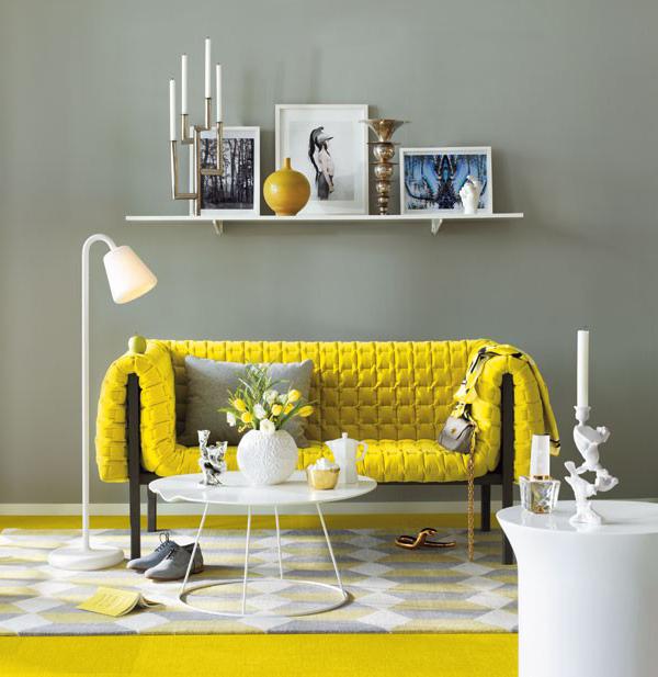 Gelbe sofa dekorationsideen f r die moderne wohnung for Dekorationsideen wohnung