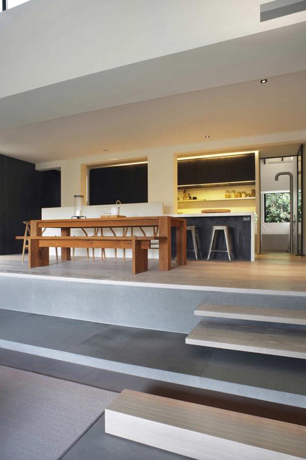 Gro raumgestaltungen f r wohnzimmer in singapur for Graues esszimmer