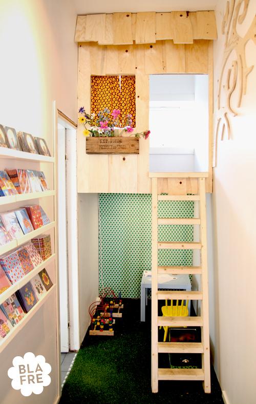 Indoor-Baumhäuser coole Ideen Kinder Bücherregalen Spielplatz