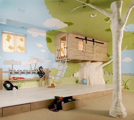 Indoor-Baumhäuser coole deen Kinder Spielplatz Wanddekoration