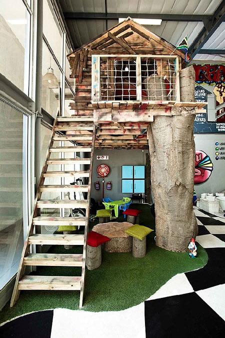 Indoor Baumhäuser coole Ideen Kinder Spielplatz