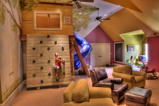 coole wohnzimmer ideen:Climbing Wall Indoor Kids Play Room Images