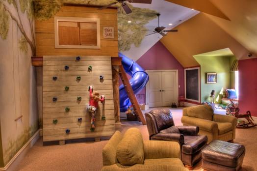 Indoor-Baumhäuser coole Ideen Kinder großes Haus Wohnzimmer