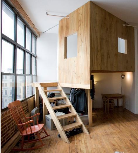 Indoor-Baumhäuser coole Ideen Kinder minimalistisches Baumhaus