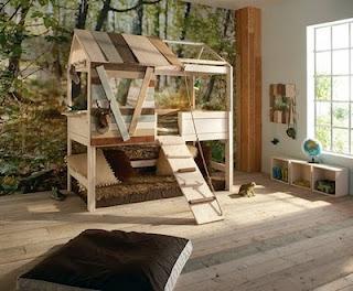 Indoor Baumhäuser coole Ideen Kinder tolles Baumhaus