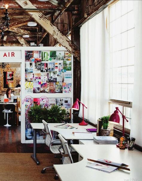 Inspirationen zur Wanddekoration Arbeitsplatz Rustika modern