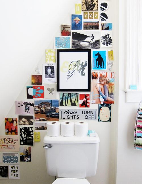 Inspirationen Wanddekoration Badezimmer Toilette Design