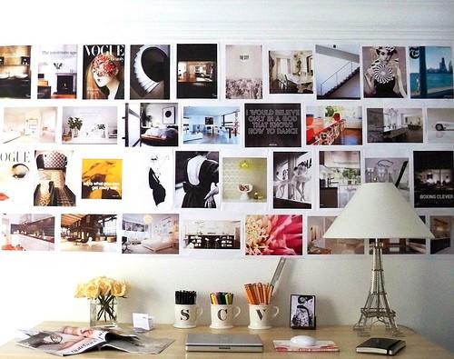 Inspirationen Wanddekoration Bilder Tisch Arbeitsplatz