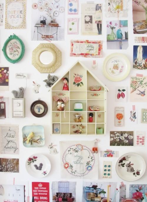 Inspirationen zur Wanddekoration Kinderzimmer Mädchen Design