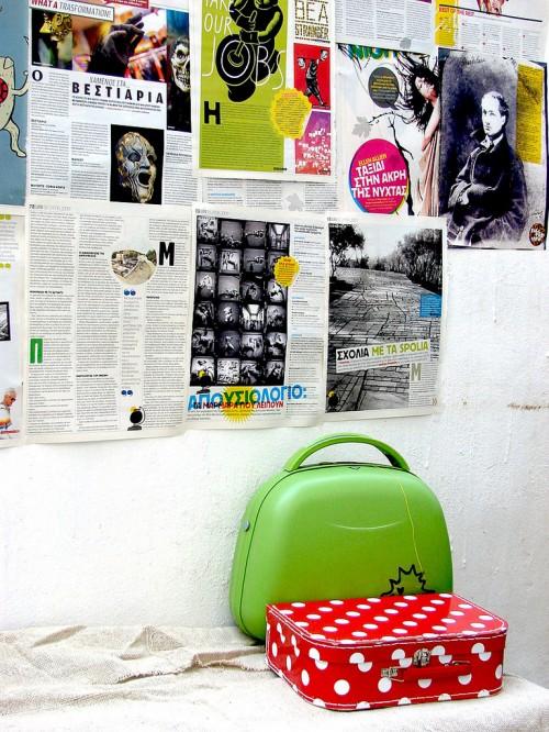 Inspirationen zur Wanddekoration grüne Tasche Dekor