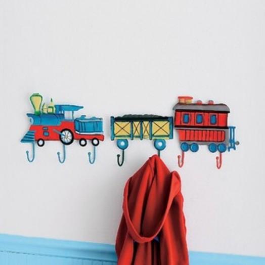 Interessante Designs  Kinderzimmer-Wandhaken Bahn Dekoration