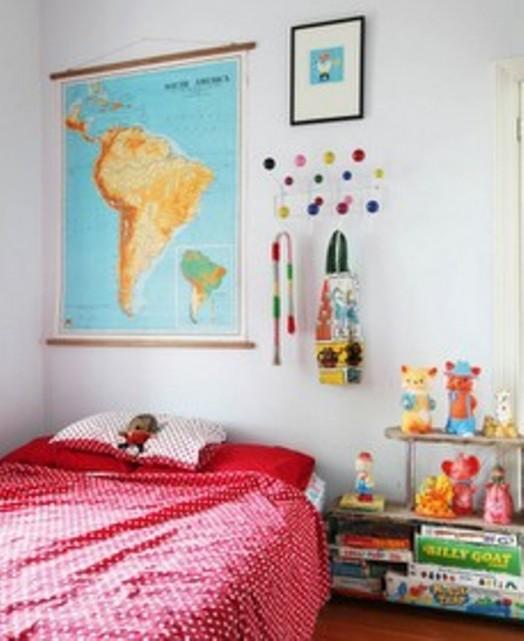 Interessante Designs Kinderzimmer-Wandhaken Dekoration Bett