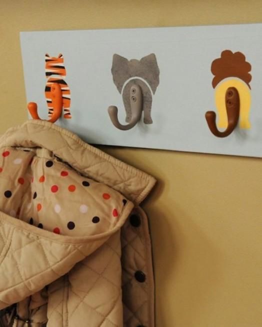 20 interessante designs für kinderzimmer-wandhaken - Kinderzimmer Deko Tiere