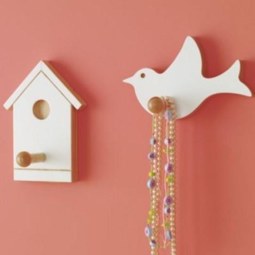 Interessante Designs Kinderzimmer-Wandhaken Dekoration Vogel