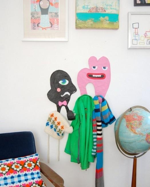 Interessante Designs Kinderzimmer-Wandhaken Stuhl Wanddekoration