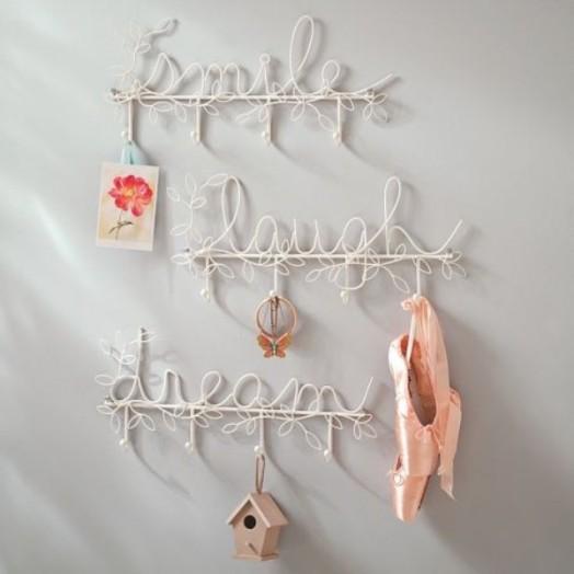 Interessante Designs Kinderzimmer-Wandhaken - romantische Dekoration