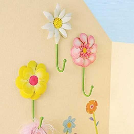 Interessante Designs Kleinkinderzimmer Mädchen Wandhaken Blumen