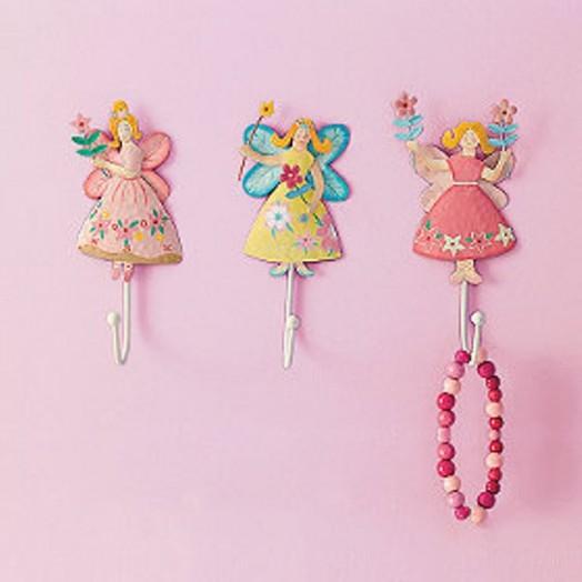 Interessante Designs Kleinkinderzimmer Mädchen Wandhaken rosa