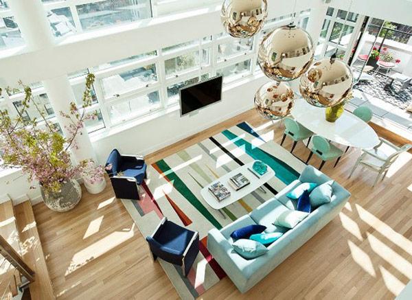 Interieur-Gestaltung Vorlegern Novogratz Sofa Esszimmer