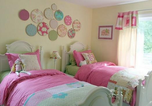 Kleinkinderzimmer Ideen Mädchen Doppelzimmer Betten Dekoration