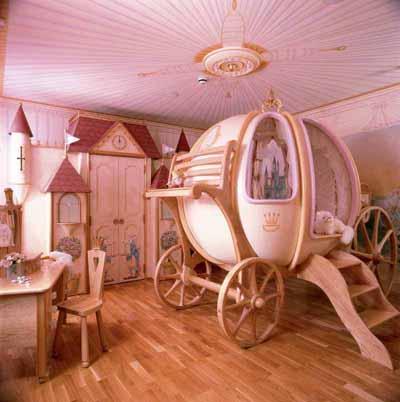 Kleinkinderzimmer-Ideen Mädchen Prinzessin Schlafzimmer Bett
