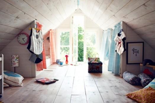 Kinderdachböden-Designs - kreative und originelle Idee