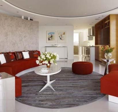 Kreisfrmiges Wohnzimmer Design Fr Das Moderne Haus