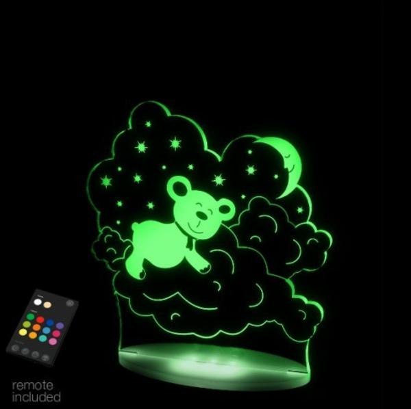 LED lampen mit fernbedienung grüner bär