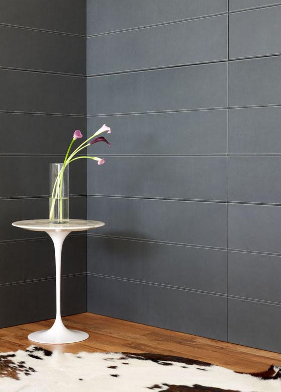 Lederstoffe Interieur-Gestaltungen Spinneybeck Flur Tisch