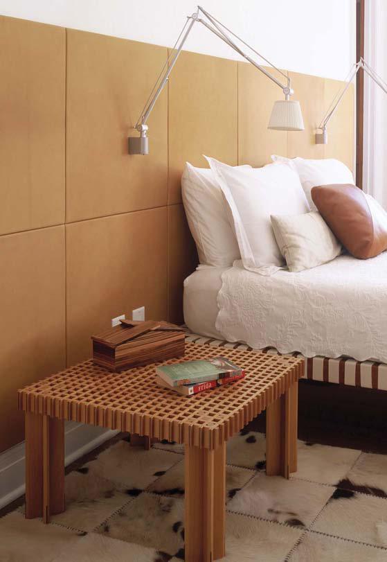 Lederstoffe Interieur-Gestaltungen Spinneybeck Schlafzimmer Nachttisch