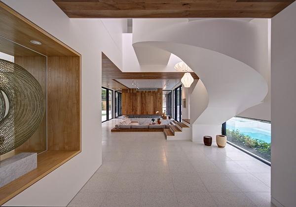 Moderne warme Villa Innenausstattung Flur-Design