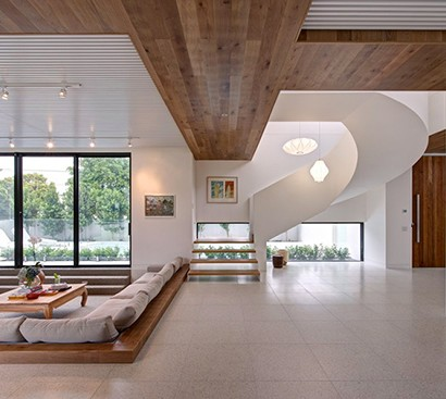 Villa Wohnzimmer : Moderne und warme villa innenausstattung