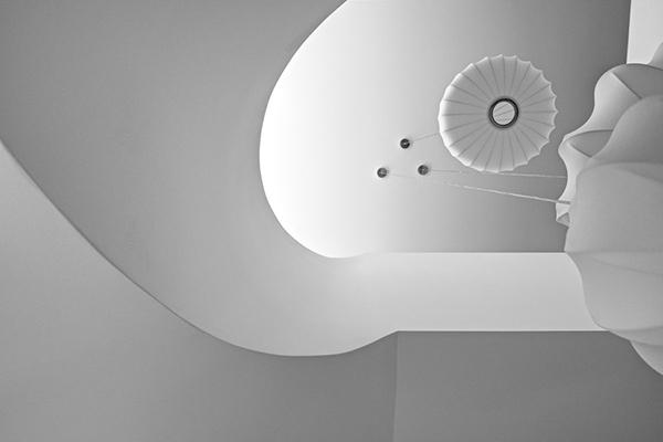 Moderne warme Villa Innenausstattung fantastische Decke