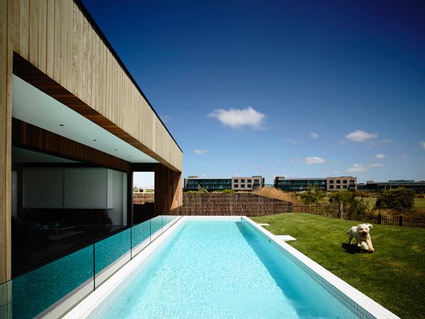 Robustes küstliches Anwesen Australien unglaubliche Schwimmbad