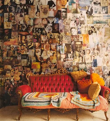 Rustikales Wohnzimmer Inspirationen Wanddekoration Idee