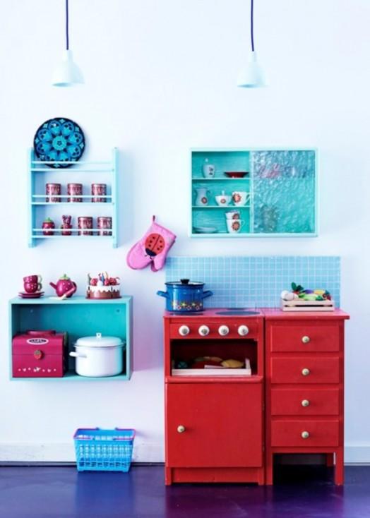Schöne Gestaltungsideen Mädchen Kinderzimmer Küche Spielplatz Idee