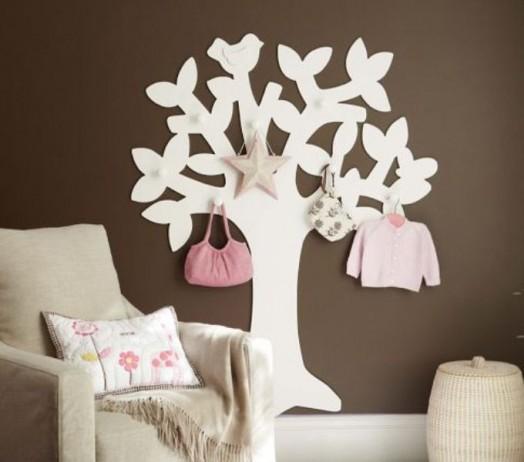 Schöne Gestaltungsideen Mädchen-Kinderzimmer Wandhaken Sessel