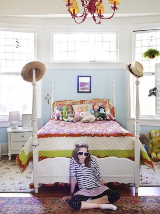Schöne Gestaltungsideen Mädchen Kinderzimmer großartiges Bett