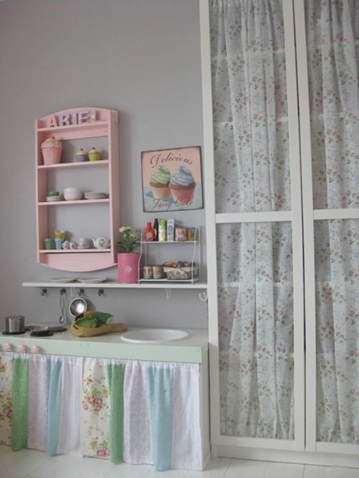 Schöne Gestaltungsideen Mädchen-Kinderzimmer kleine Küche