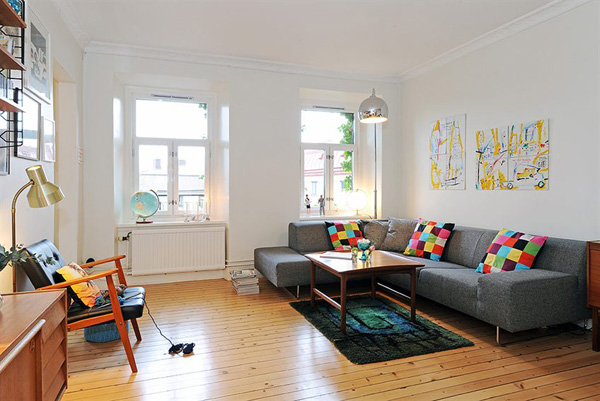 Skandinavische Wohnzimmer Designs hypnotisierendem Effekt Ecksofa