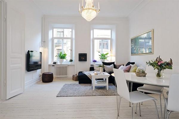 Skandinavische Wohnzimmer-Designs hypnotisierendem Effekt Essbereich