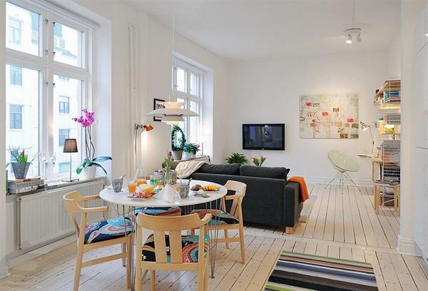 Skandinavische Wohnzimmer-Designs hypnotisierendem Effekt Esszimmer